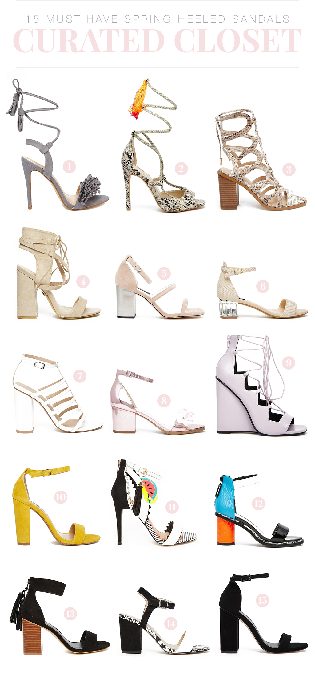 15 Must-Have Spring Heeled Sandals to add to your closet | www.wovenwithgold.com
