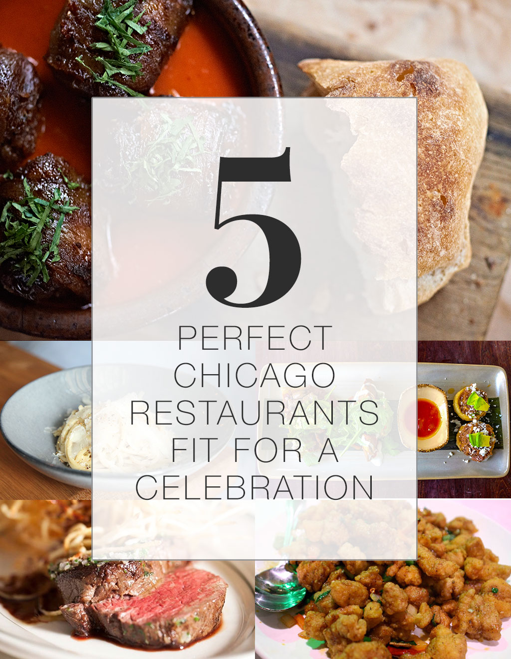 5 Perfect Chicago Restaurants fit for a Celebration | Avec, Monteverde, Frontera Grill, Joe's Seafood, Prime Steak & Stone Crab, Lao Sze Chuan
