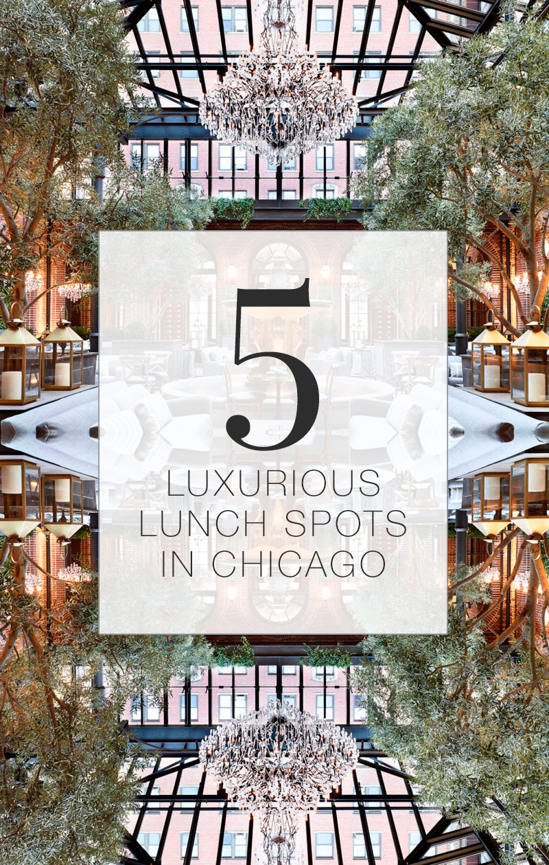 5 Luxurious Lunch Spots in Chicago