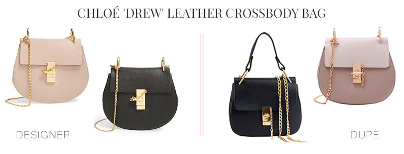 Designer Dupes & Look Alikes |Chloé 'Drew' Leather Crossbody Bag Look alike