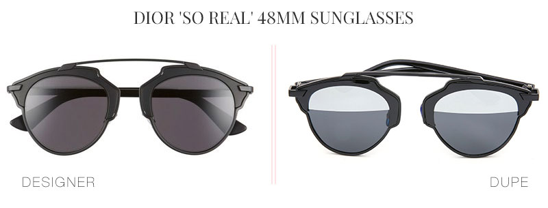 Designer Dupes & Look Alikes |Dior 'So Real' 48mm Sunglasses Look alike