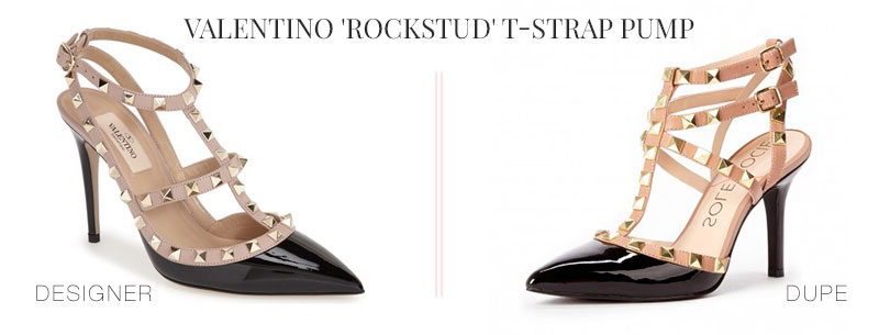 Designer Dupes & Look Alikes | Valentino 'Rockstud' T-Strap Pump Look alike