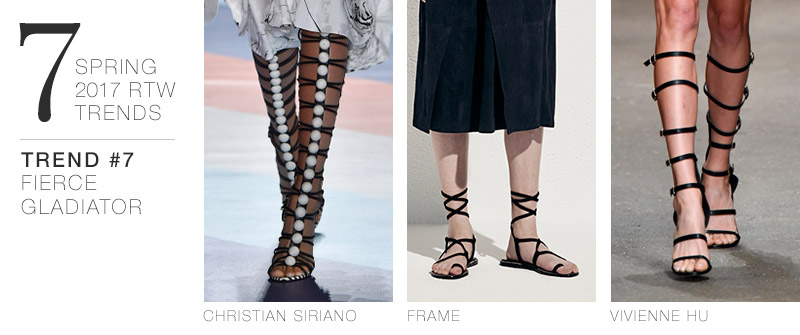 7 Spring 2017 RTW Trends to Incorporate in Your Wardrobe Now | Trend #7: Fierce Gladiator