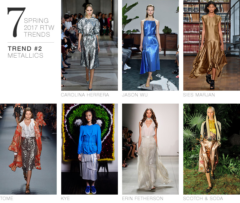 7 Spring 2017 RTW Trends to Incorporate in Your Wardrobe Now | Trend #2: Metallics