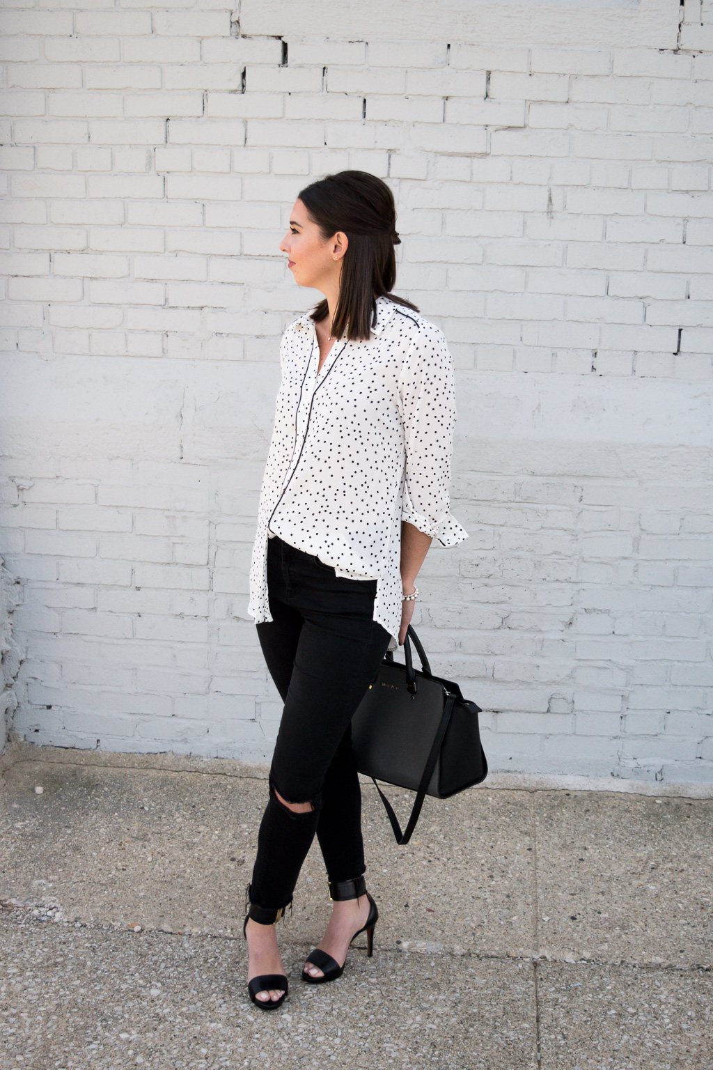 Black & White Vol 4 | Combining black and white in any outfit will always guarantee that you will look put together and chic. Add a polka dot print to make it pop even more!